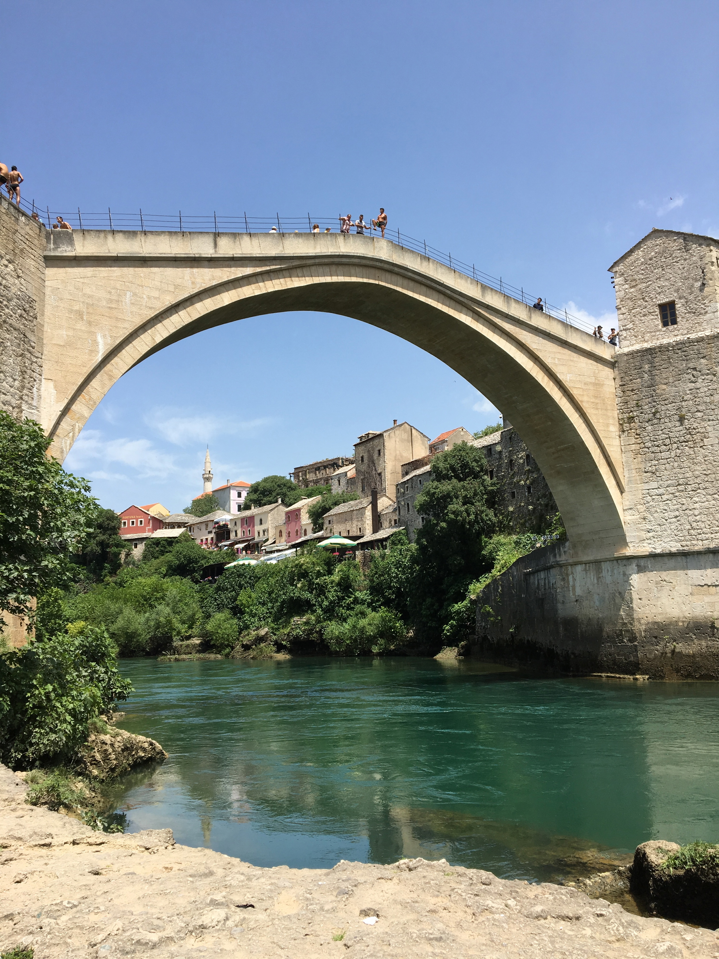 Mostar's famous bridge, rebuilt after damaged in the 1991 war by UNESCO