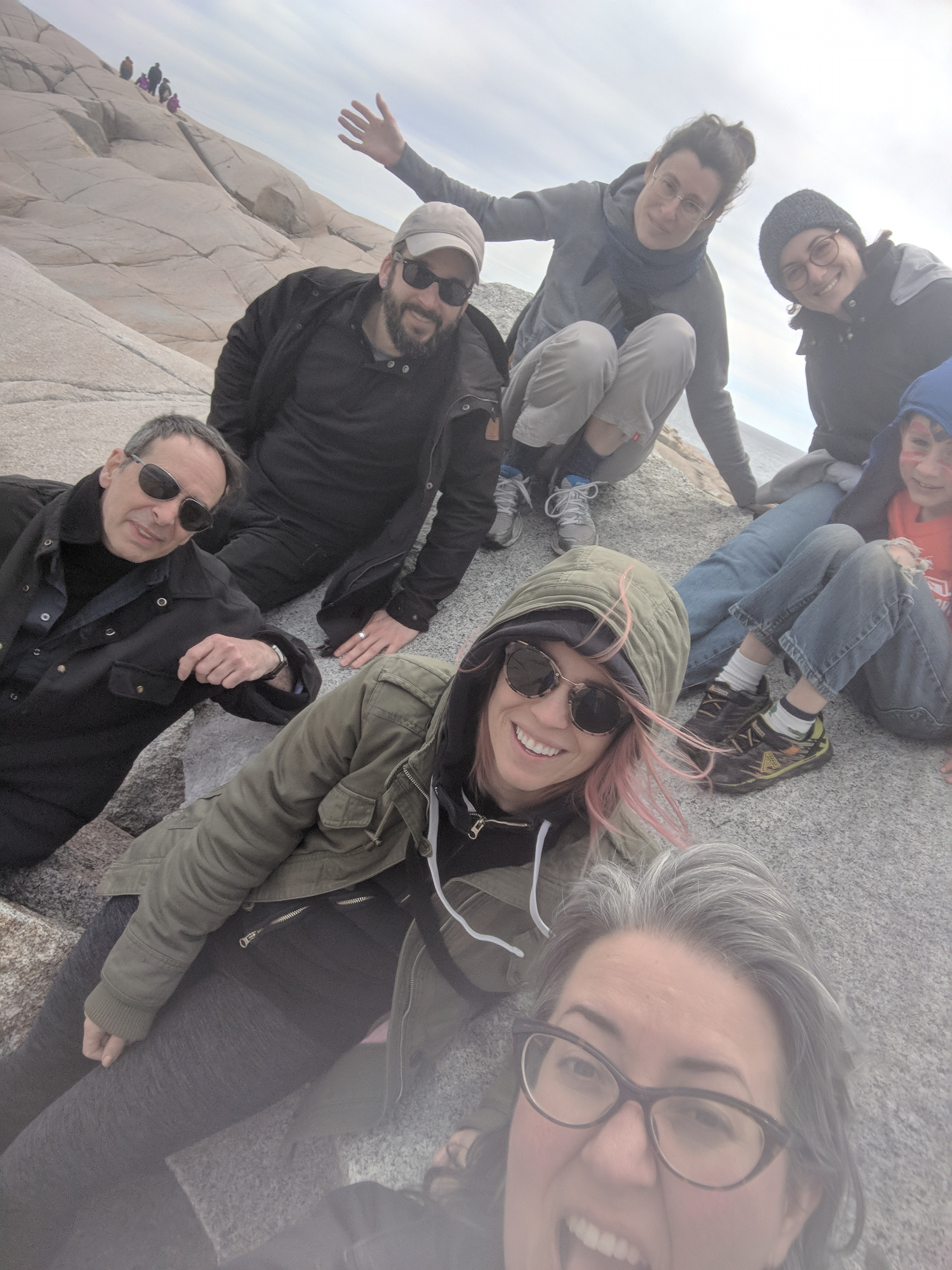Some of the AFX crew and guests enjoying a post-fest trip to Peggy's Cove.