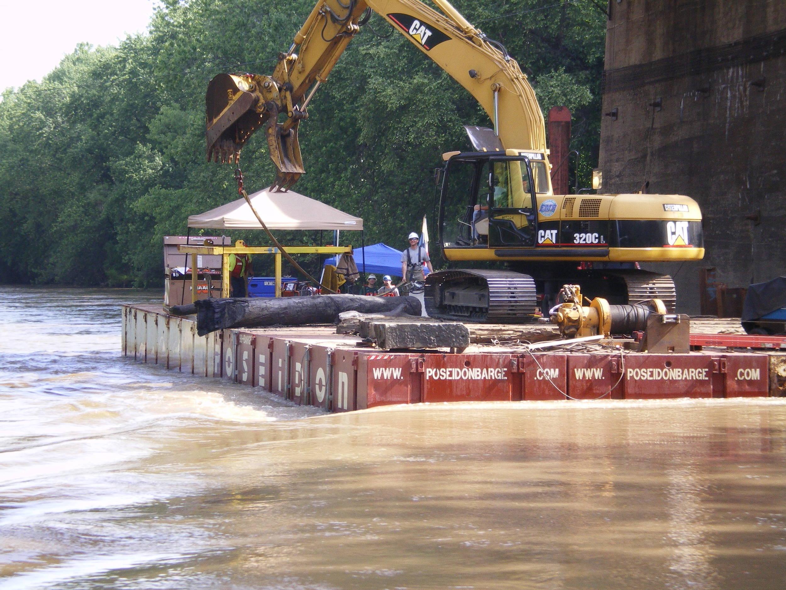 bridge pier work