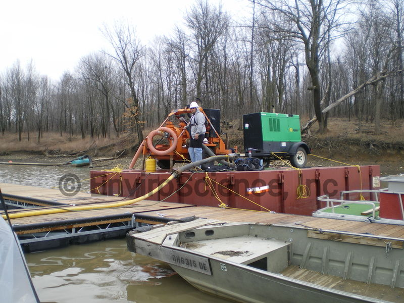 Welding generator and barge pump