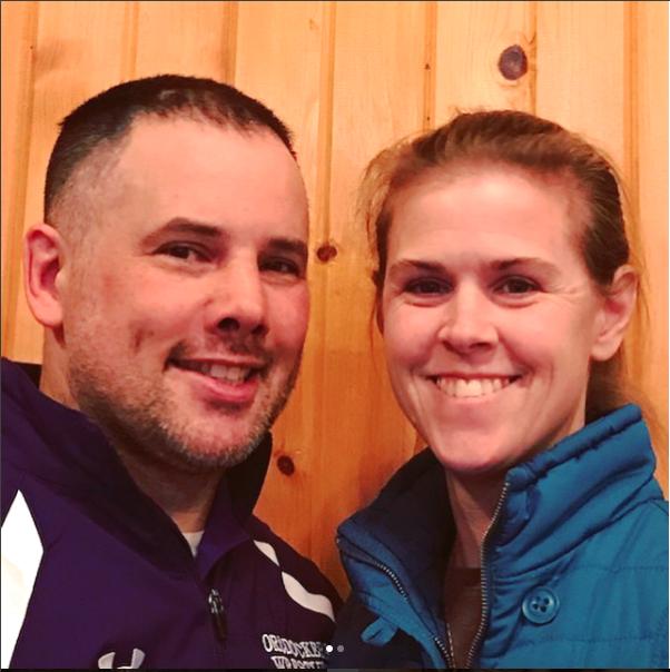 Holy Land Pilgrimage Winner Becky Mika (right) & her husband Tim (left)