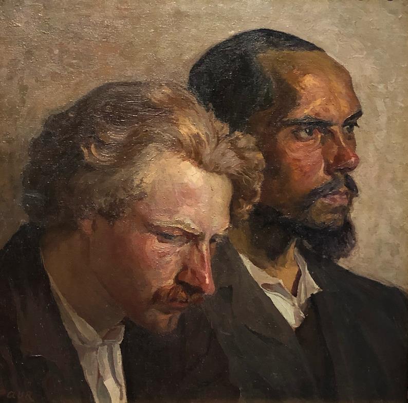 1911  Adomas Varnas  Double portrait: pesimistas & optimistas .