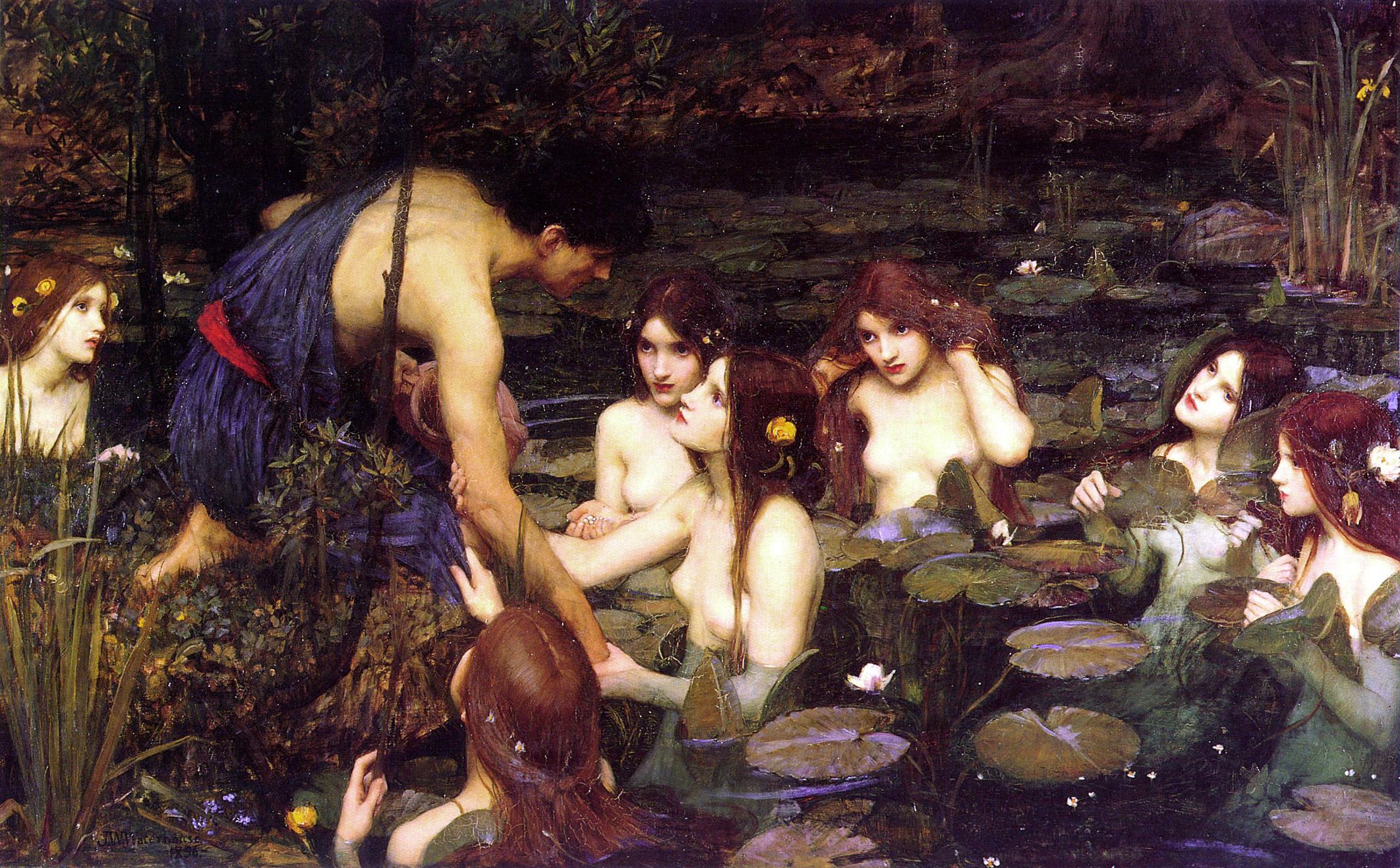 J ohn  W illiam  W aterhouse /  Hylas & the Nymphs , 1896.