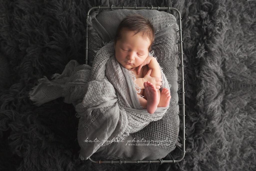 Reston VA Newborn Baby Boy Photographer | Kate Juliet Photography