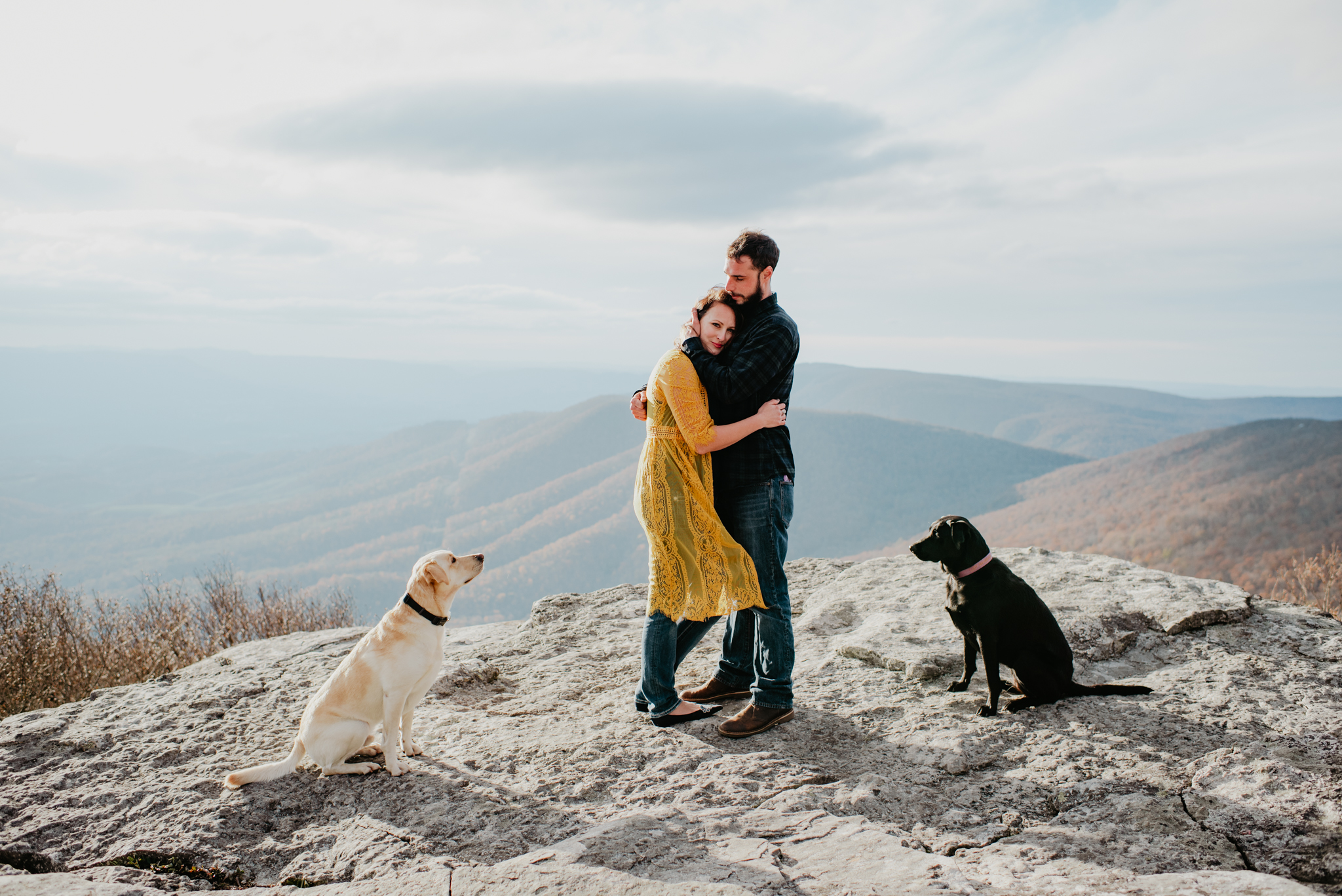 FALL MOUNTAINTOP COUPLES PORTRAITS