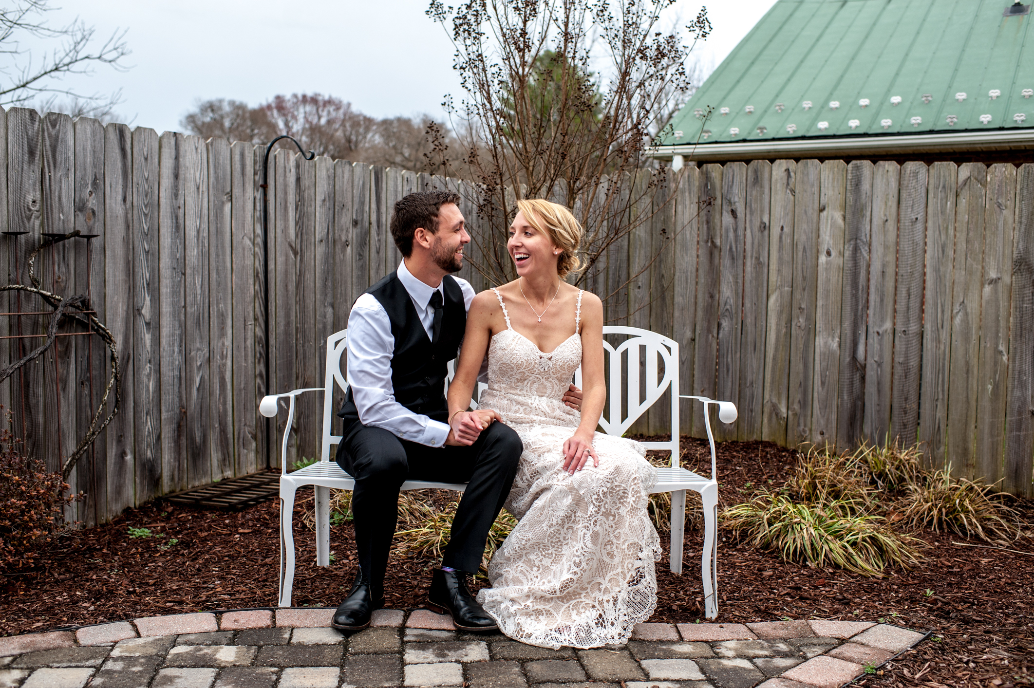 """Rachel & Josh - """"Where do I start?! Molly shot our wedding in February. It was a pretty last-minute wedding and my husband and I were super chill about the whole thing. She totally understood how relaxed we were and was amazing the entire day!!"""""""