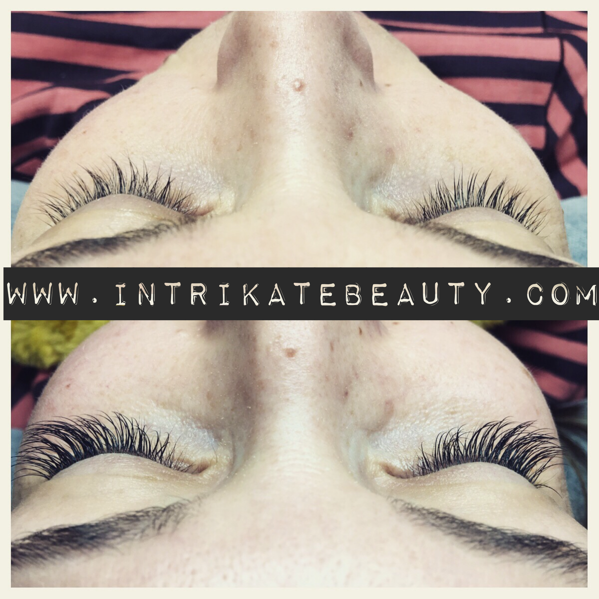before and after Xtreme Lashes® eyelash extension application