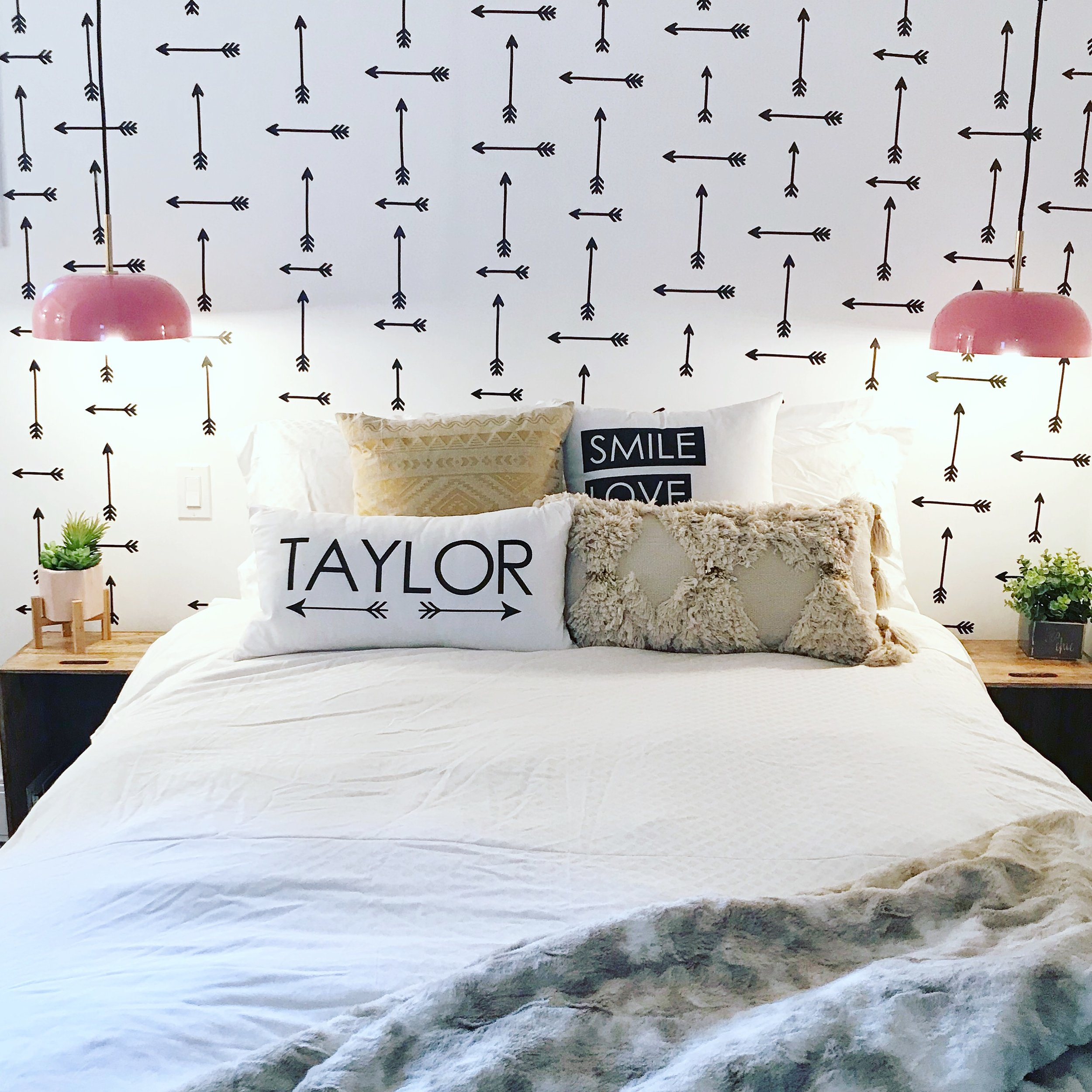 TEEN BOHO BEDROOM - FROM BARNEY PURPLE TO WHITE AND BRIGHT