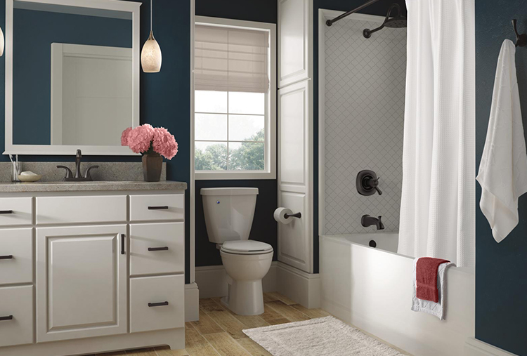 "Addison Two-Handle Centerset Bathroom Faucet  ,  TempAssure 17T Series H  2  Okinetic Tub & Shower  ,  Double Robe Hook  ,  24"" Towel Bar  and   Classic 400 60"" x 32"" Bathtub"