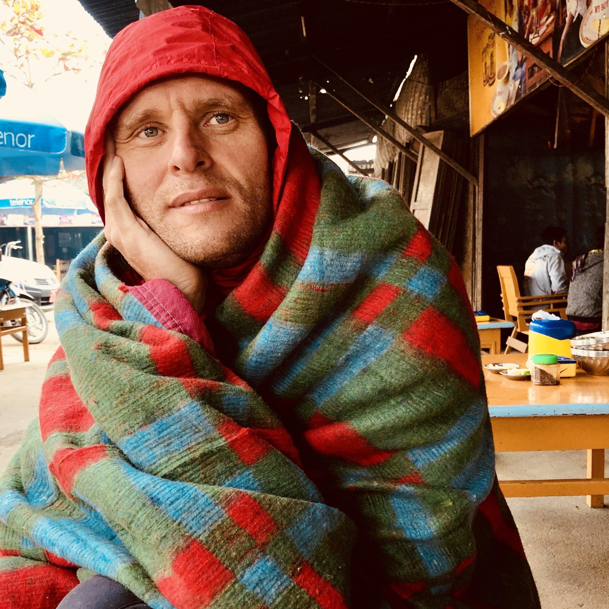 A cold fellow traveler, Ryan, from Leeds