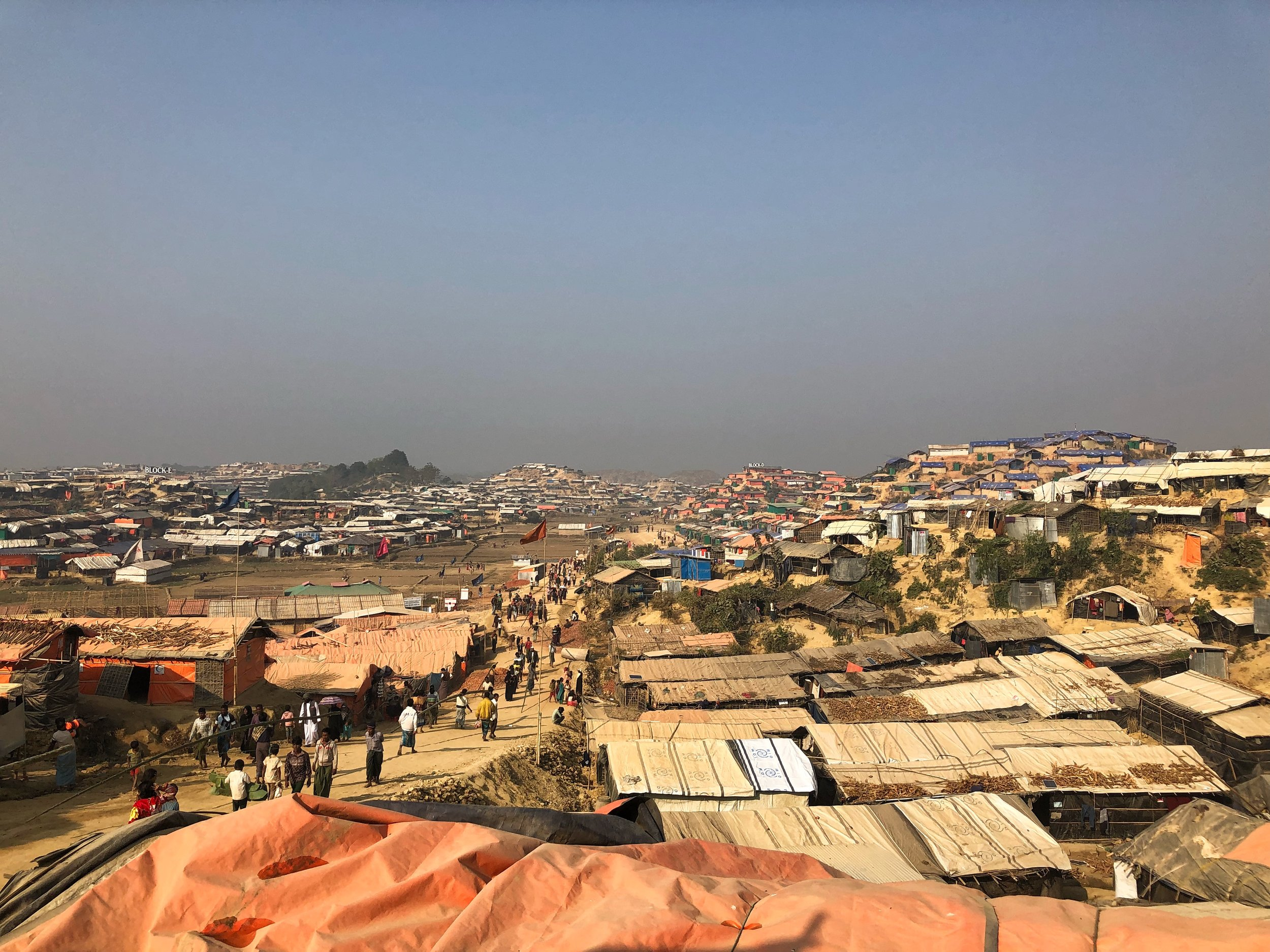 The sprawling Tangkhali houses over 300,000 refugees, one of three camps in the Cox's Bazar district that borders neighbouring Burma