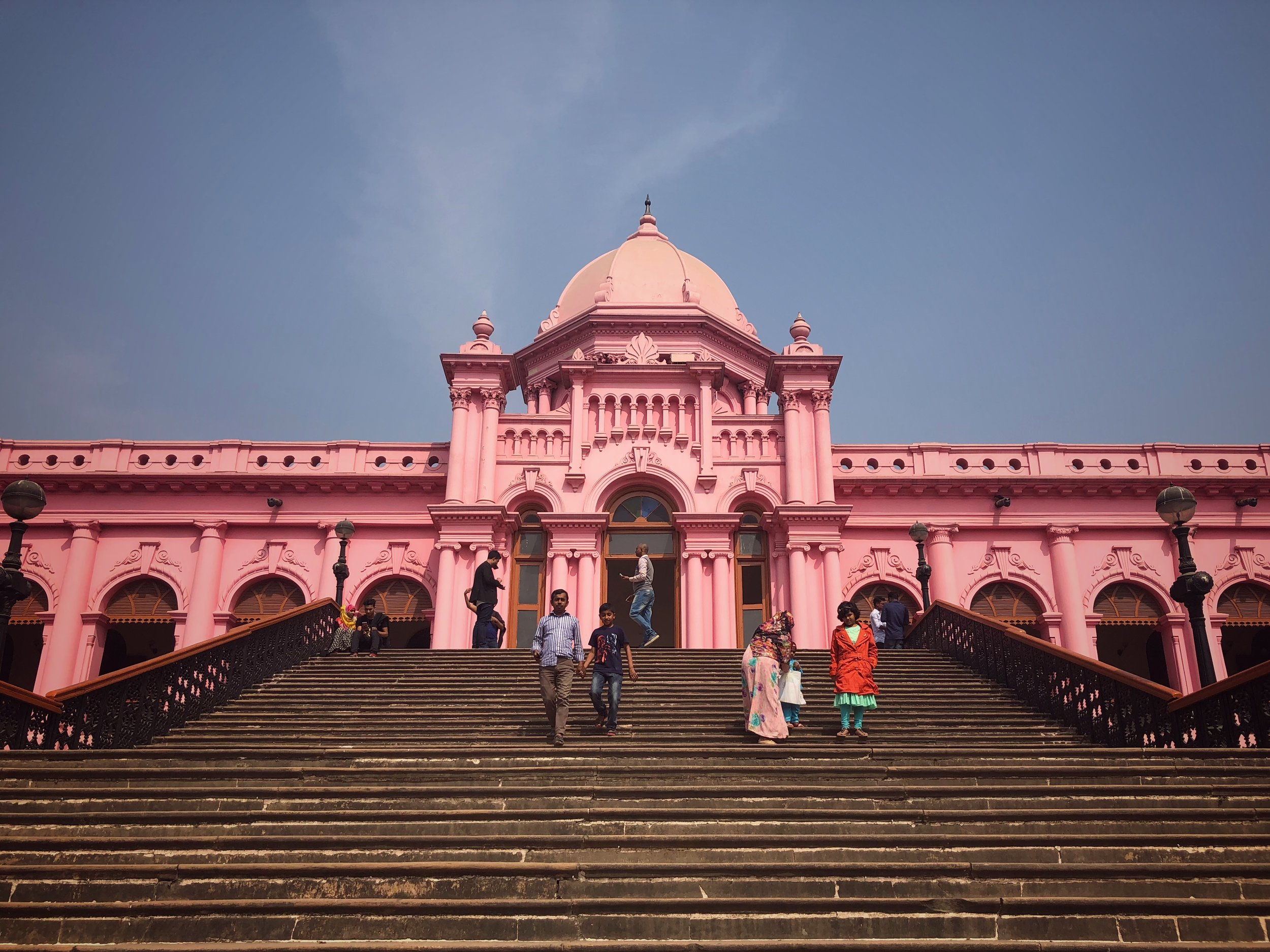 The Pink Fort sits on the banks of the Buriganga River and once housed local dignatories associated with the British Imperialists.