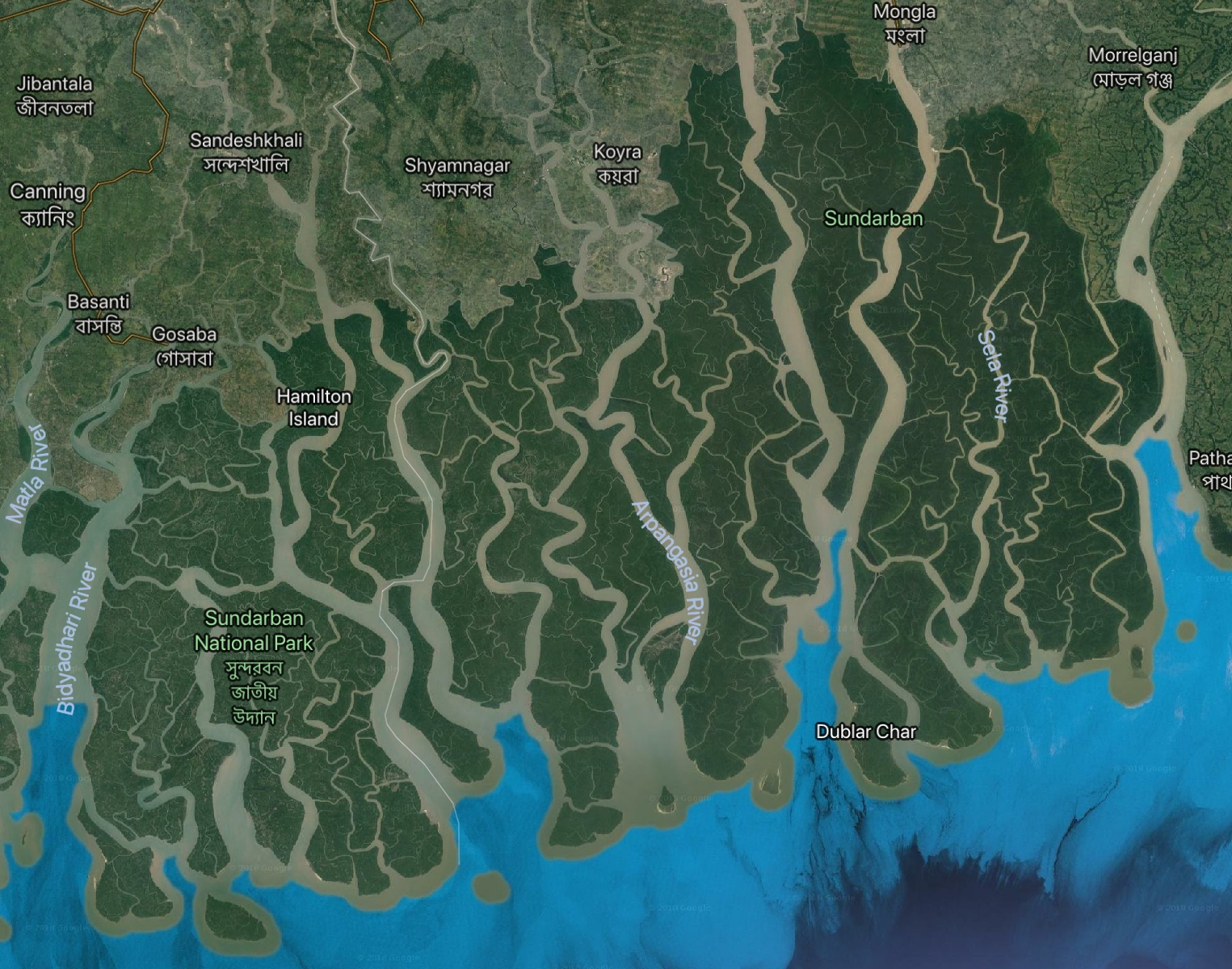 65% of the Sundarbans is found in Bangladesh with the remainder in the state of West Bengal, India