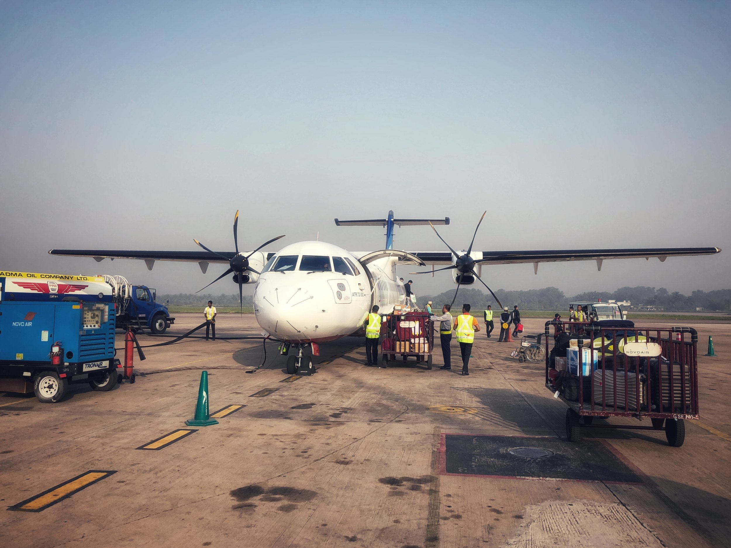Having travelled on everything from fishing boat and rickshaw to CNG and bus it was now time to take my first plane ride