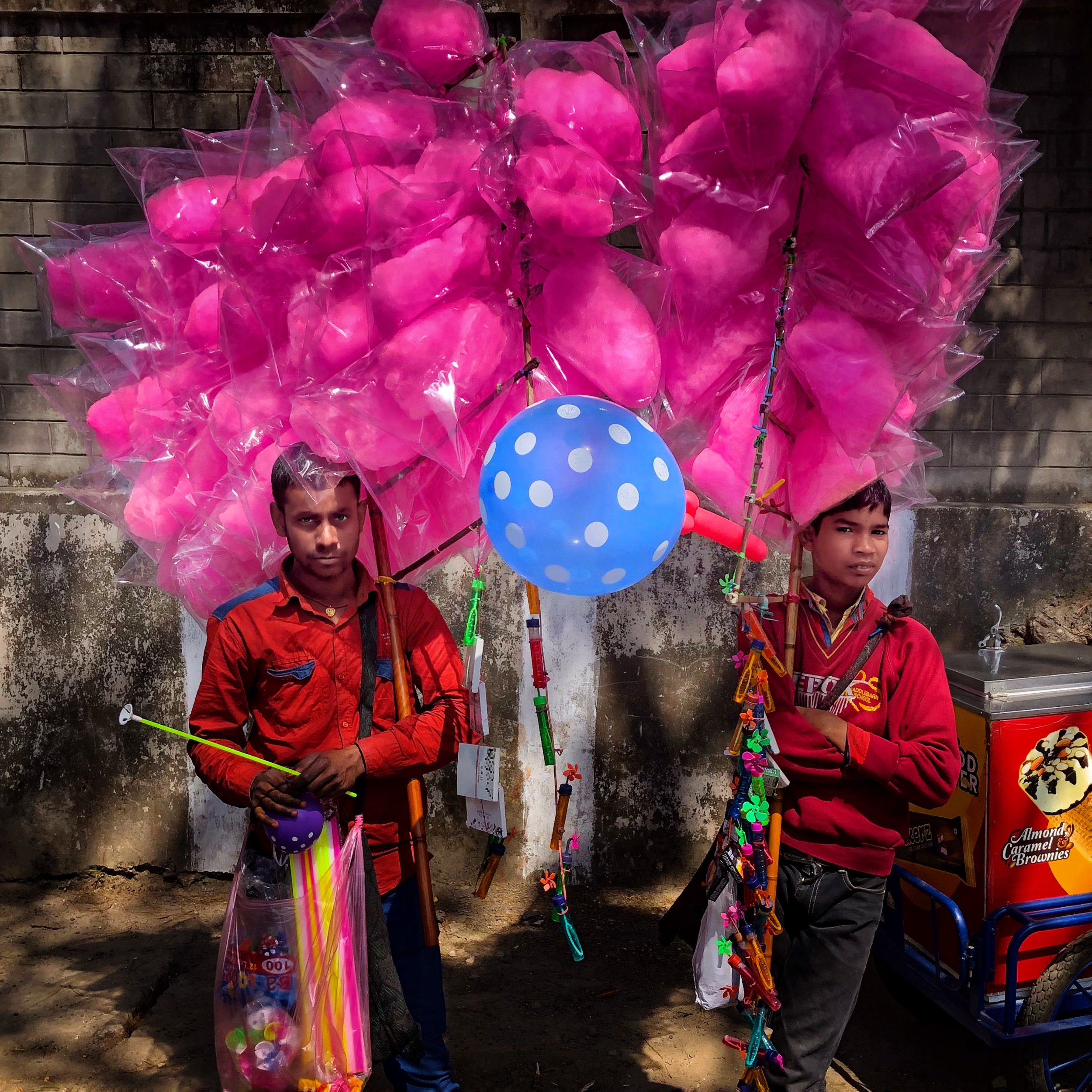 These candy-floss sellers looked how I felt