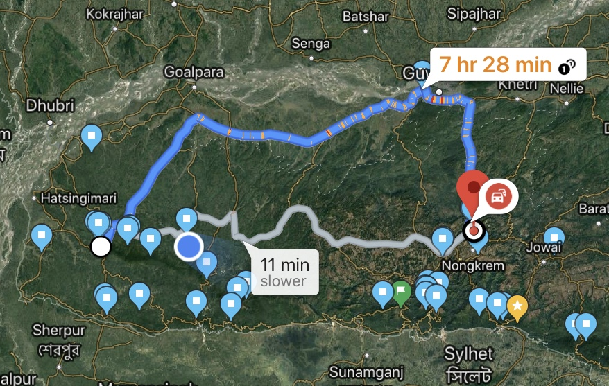 A convoluted route from Shillong to Tura via Guwahati