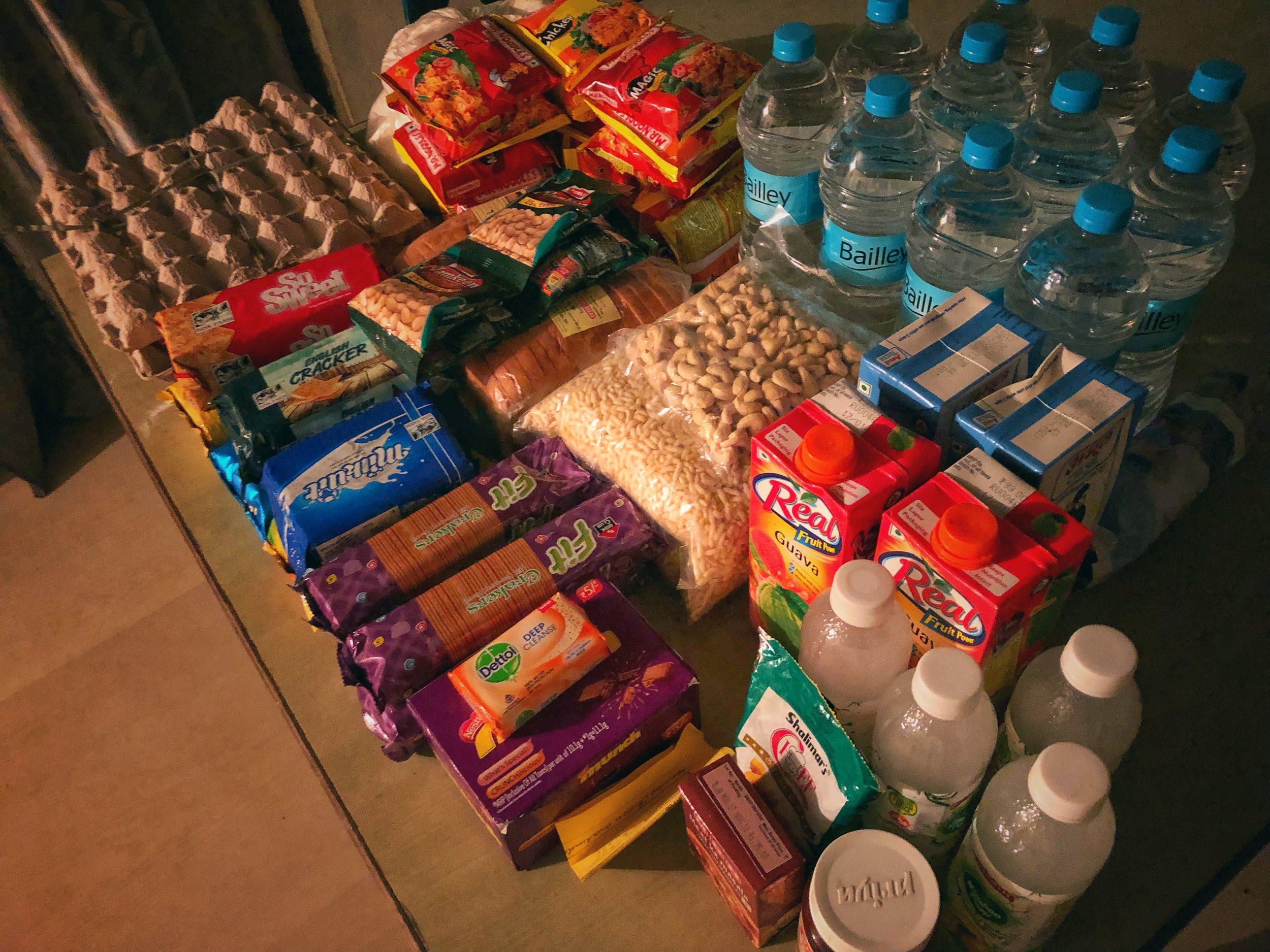 Feeding the Five Thousand - some of the supplies for the lodge