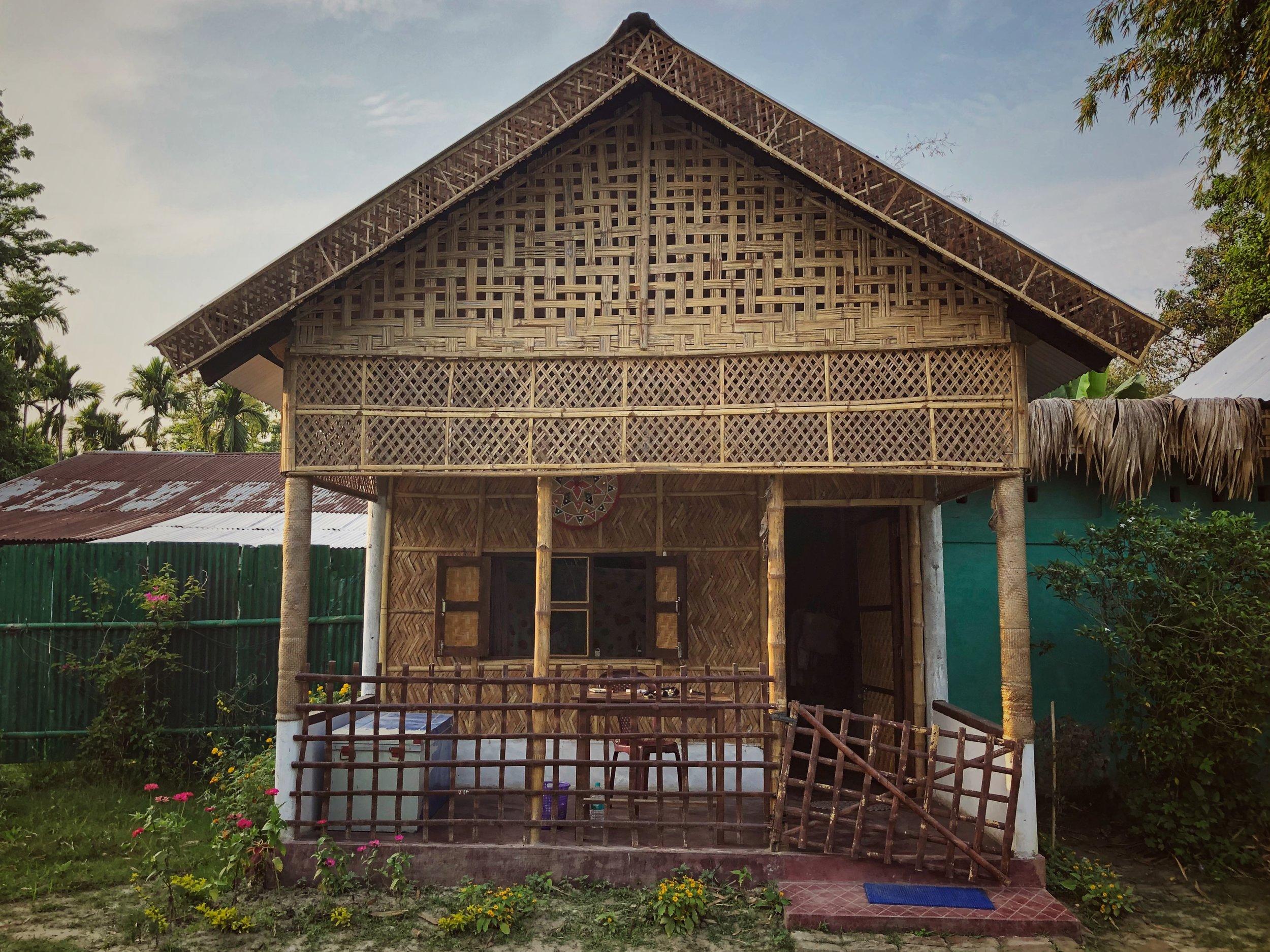 My bamboo bungalow at Jyoti's in Majuli Island
