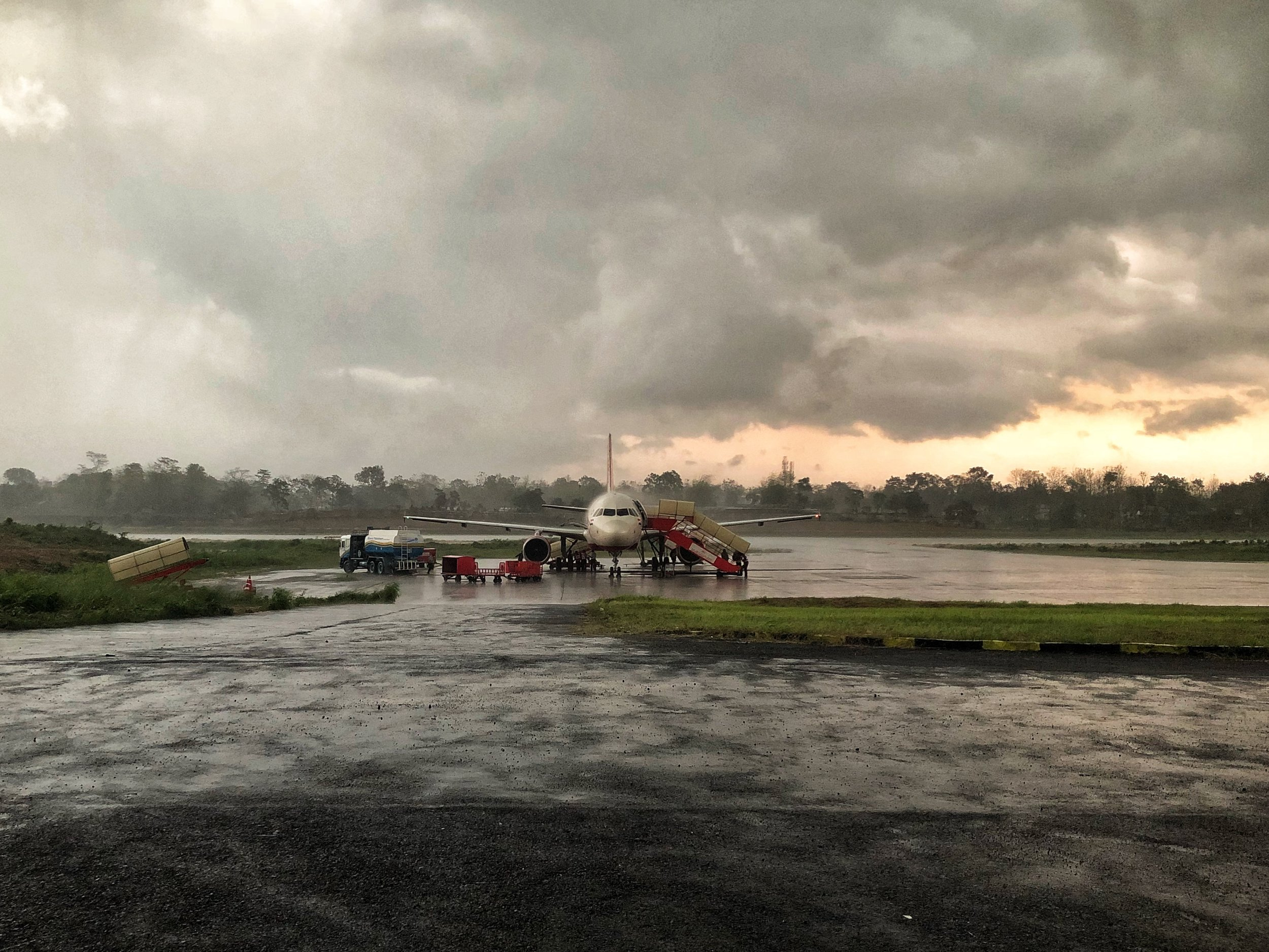 Storms delayed the flight from Dimapur