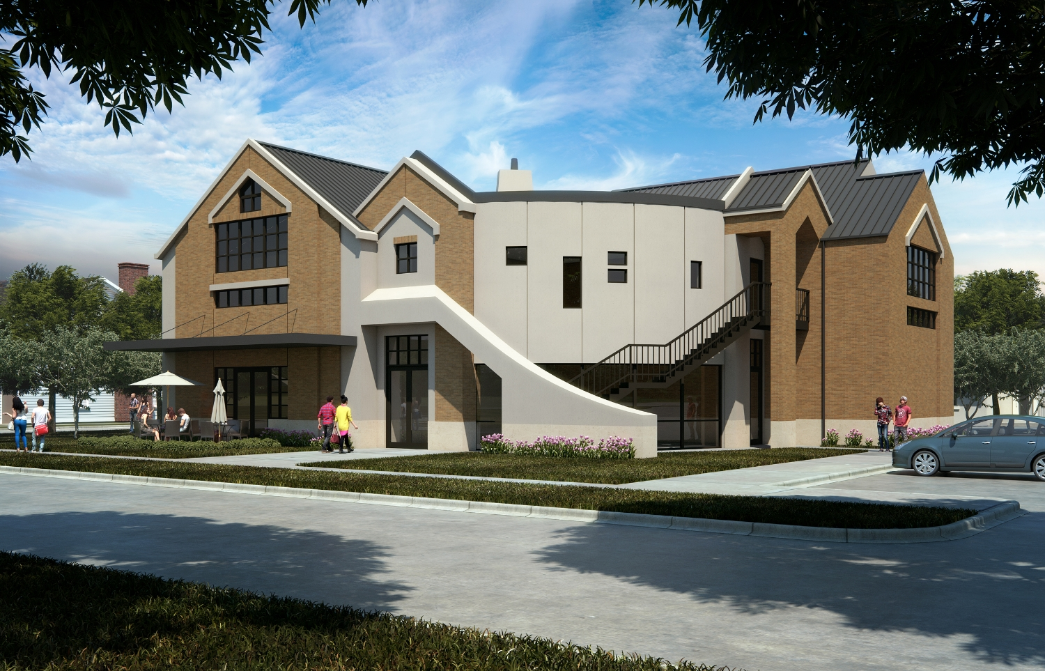 Rendering of Youth Ministry Building