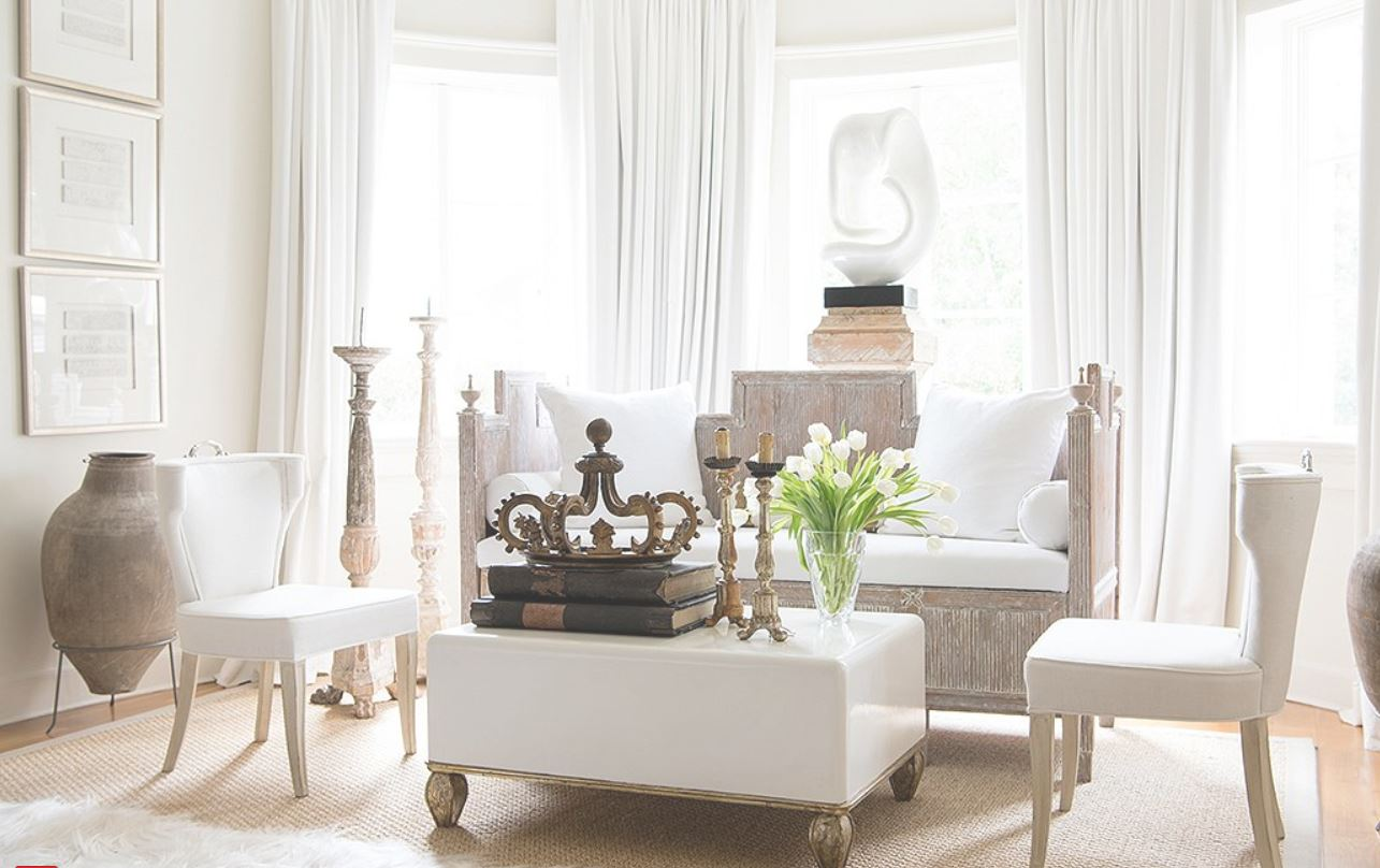 Contemporary coffee table, Art Sculpture, Swedish Contemporary chairs, with Antique day bed and French antique accessories