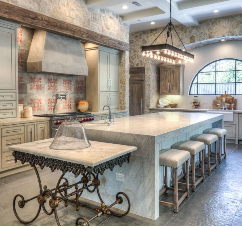 Custom stools: Custom Creations, Houston; Designer: Tracy Design Studio