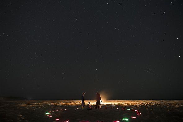 Collectively, we are here to participate in one of the world's great pre-historic traditions—looking up into the night sky to read the stars above. Photograph by Max Lowe