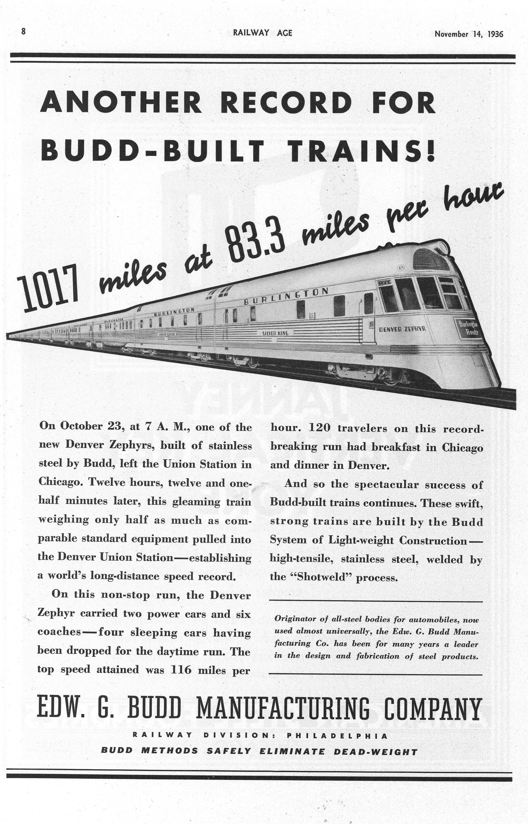 Budd Another Record For Budd-Built Trains! 1936.jpg