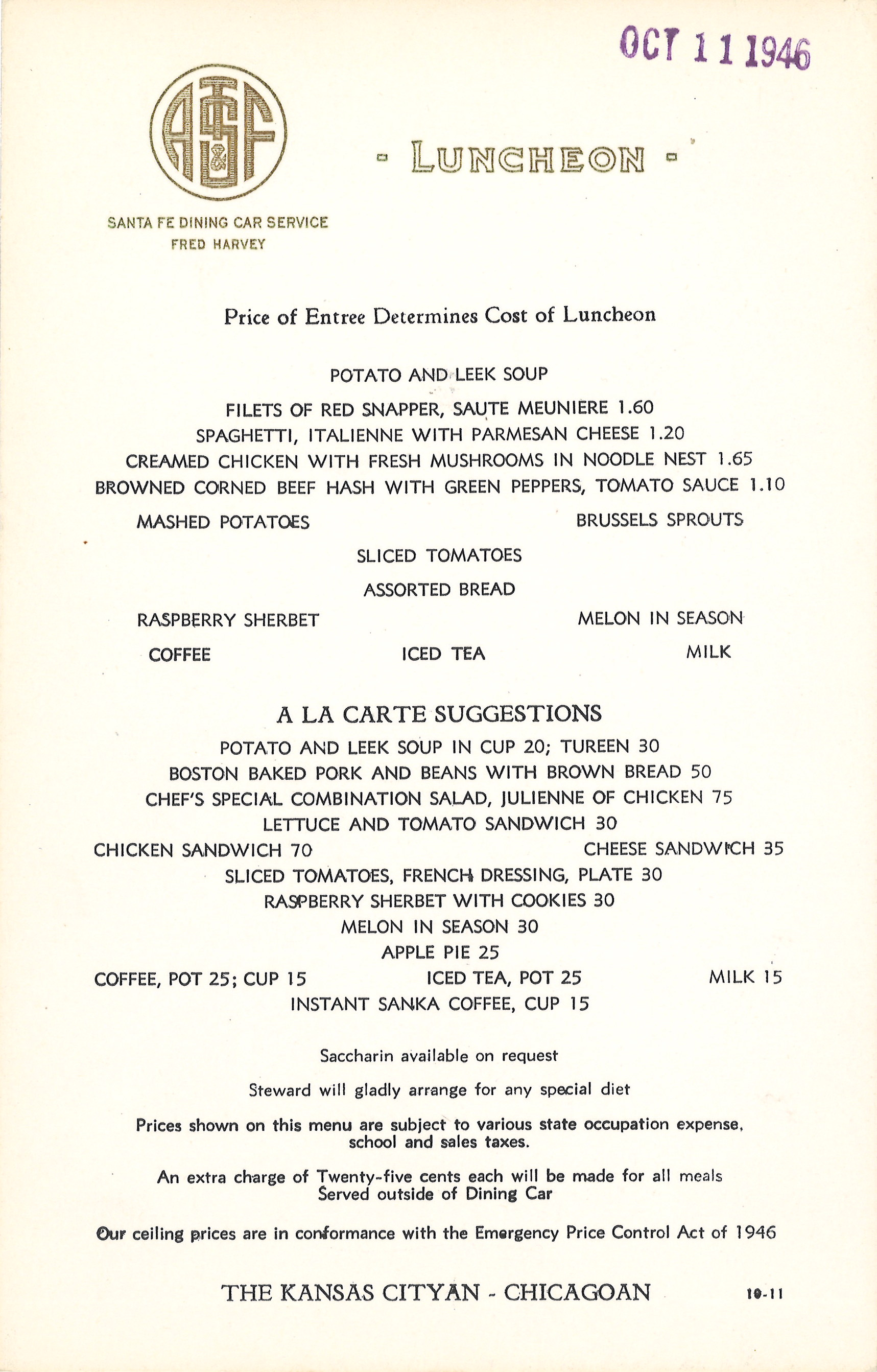 Santa Fe Oct. 11 1946 Lunch Menu.jpg