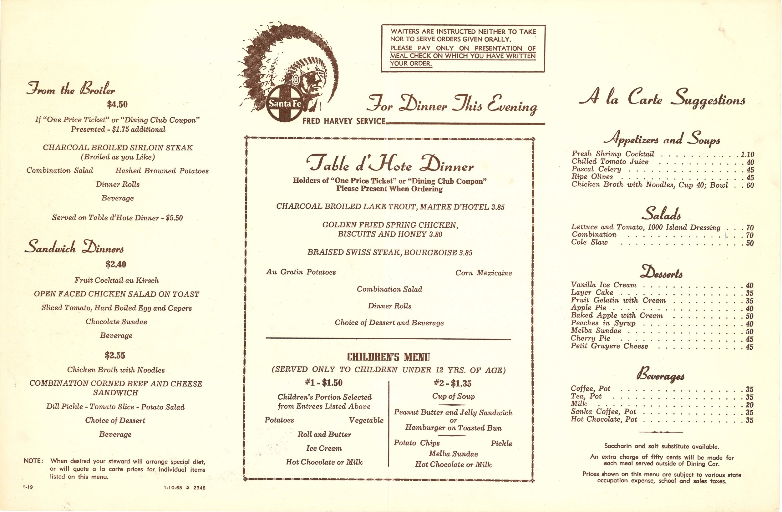 Santa Fe The Blanket Weaver Dinner Menu 2.jpg
