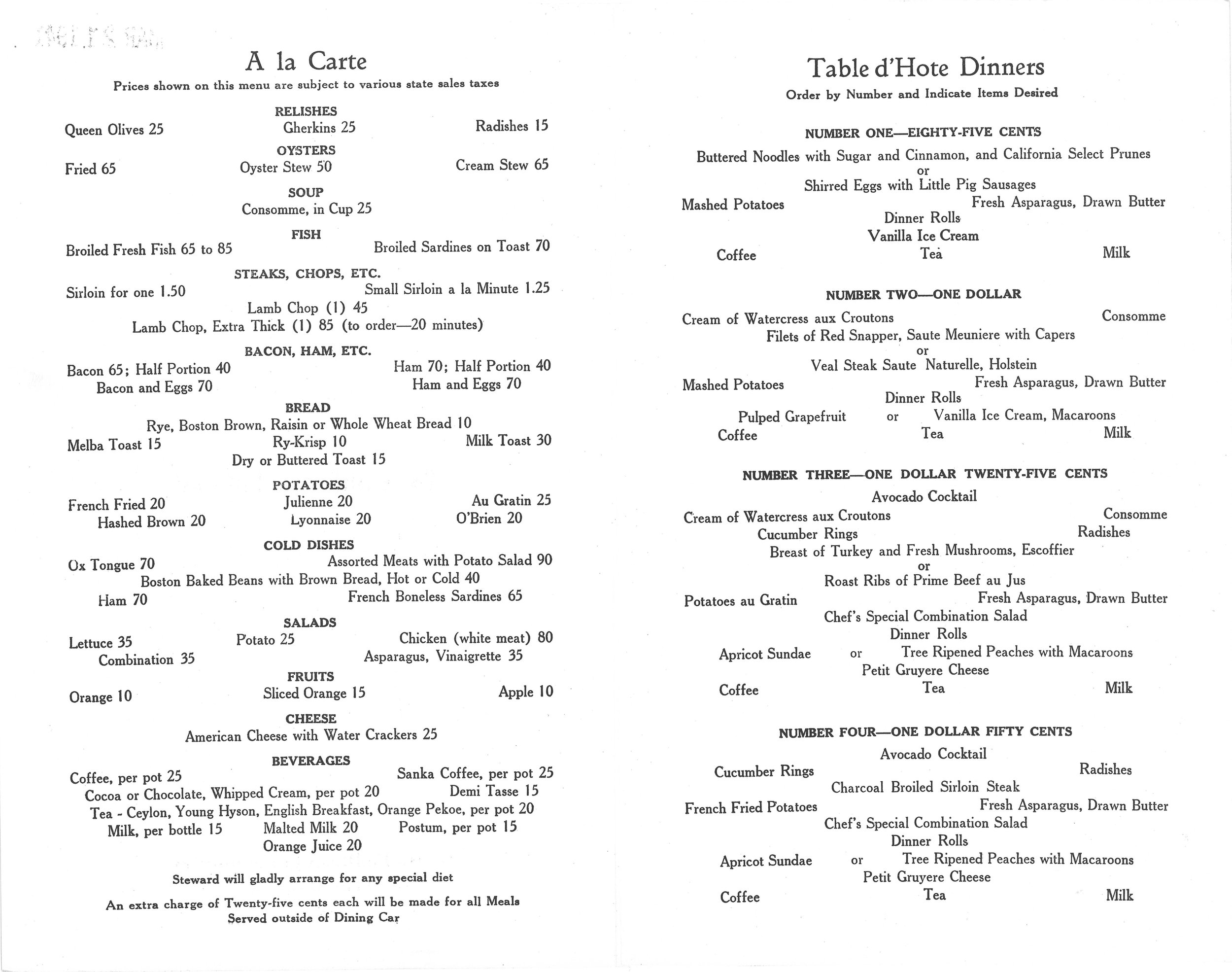 Santa Fe The California Limited Dinner Menu May 1941- 2.jpg
