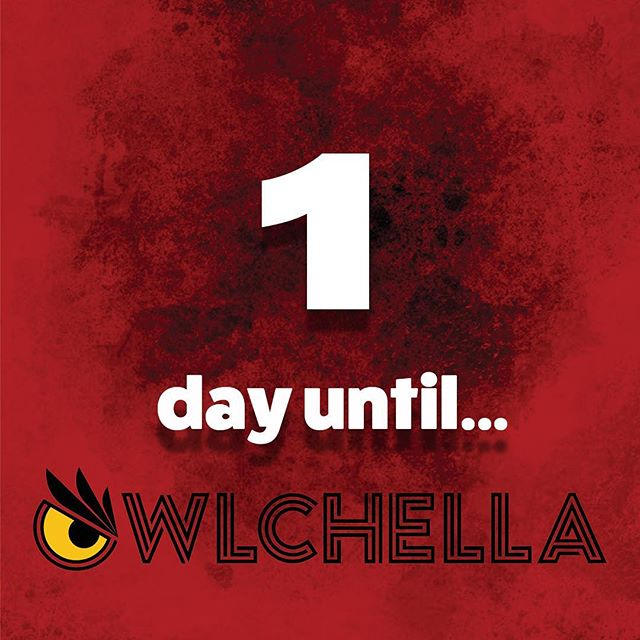 Only ONE day until #Owlchella2019 🔥A perfect way to end to our last week of classes here at Temple 🤩 Tickets are STILL being sold at The Liacouras Center and on their online website. If you don't have your ticket by now, WYD? You're not going to want to miss out on this. 👏🏼