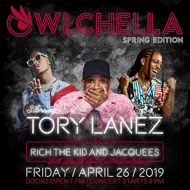 TODAY IS THE DAY!!! 🤩🔥#Owlchella2019 Last minute tickets are on sale at The Liacouras Center 🙌🏼 #GetWithTheProgram and join us for the EVENT OF THE YEAR!!! 🎶🎫 Swipe LEFT to see our rules and regulations for the concert!