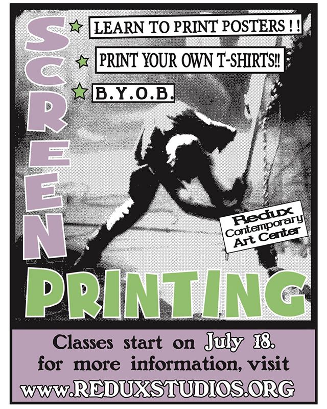 Y'all wanna learn to screen print? Of course you do!! I gotsa 4 week class starting next week! No experience necessary and this class set in particular will be focusing on teaching the ins and outs of printing WITHOUT computer graphics. All by hand 🤘🏽it's a great way to see how printing can mesh with your preferred medium of art. Go to www.reduxstudios.org for more info