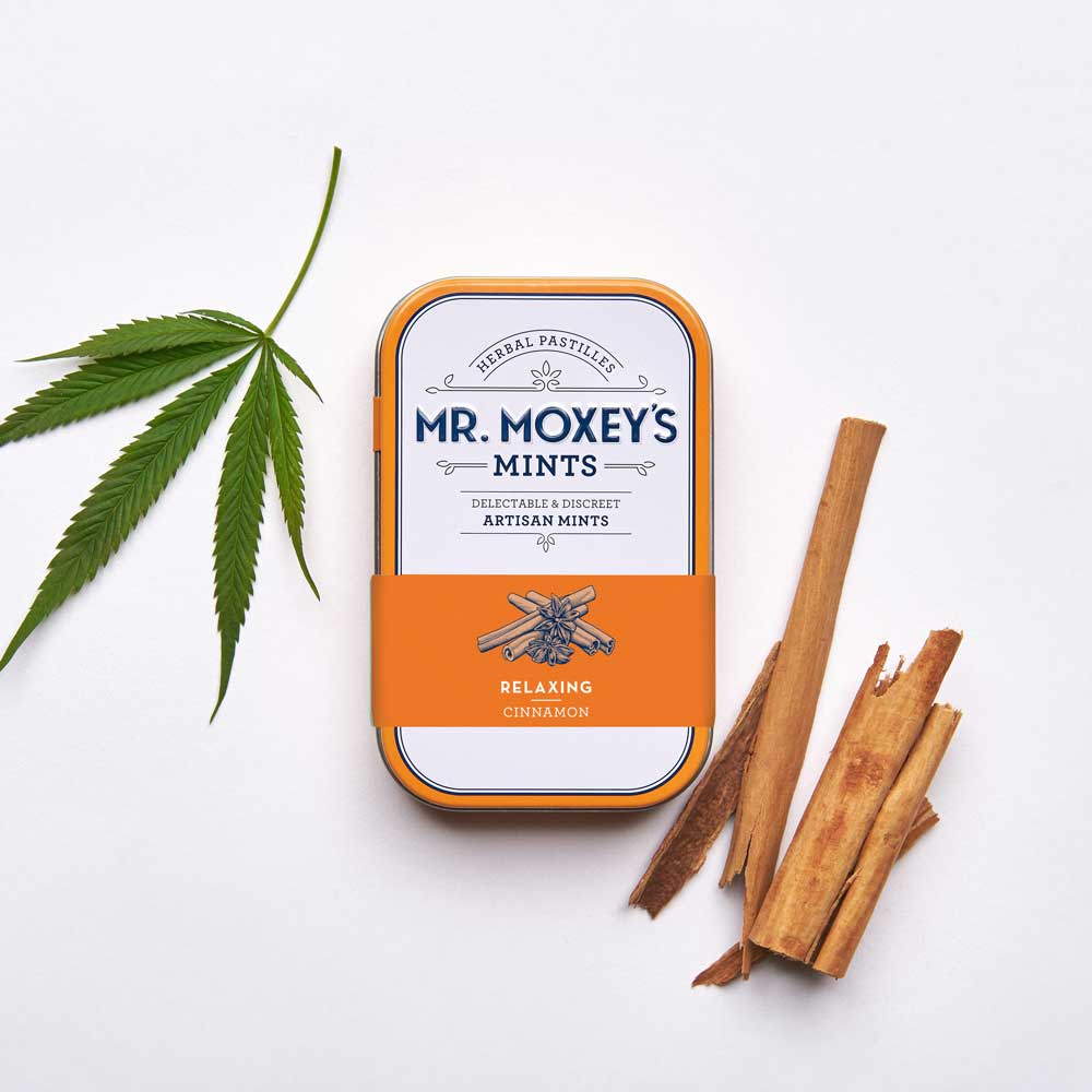 Relaxing Cinnamon - With a calming blend of tension-relieving California Poppy and Chamomile to reduce anxiety, these microdosed cinnamon mints let you kick back and relax.
