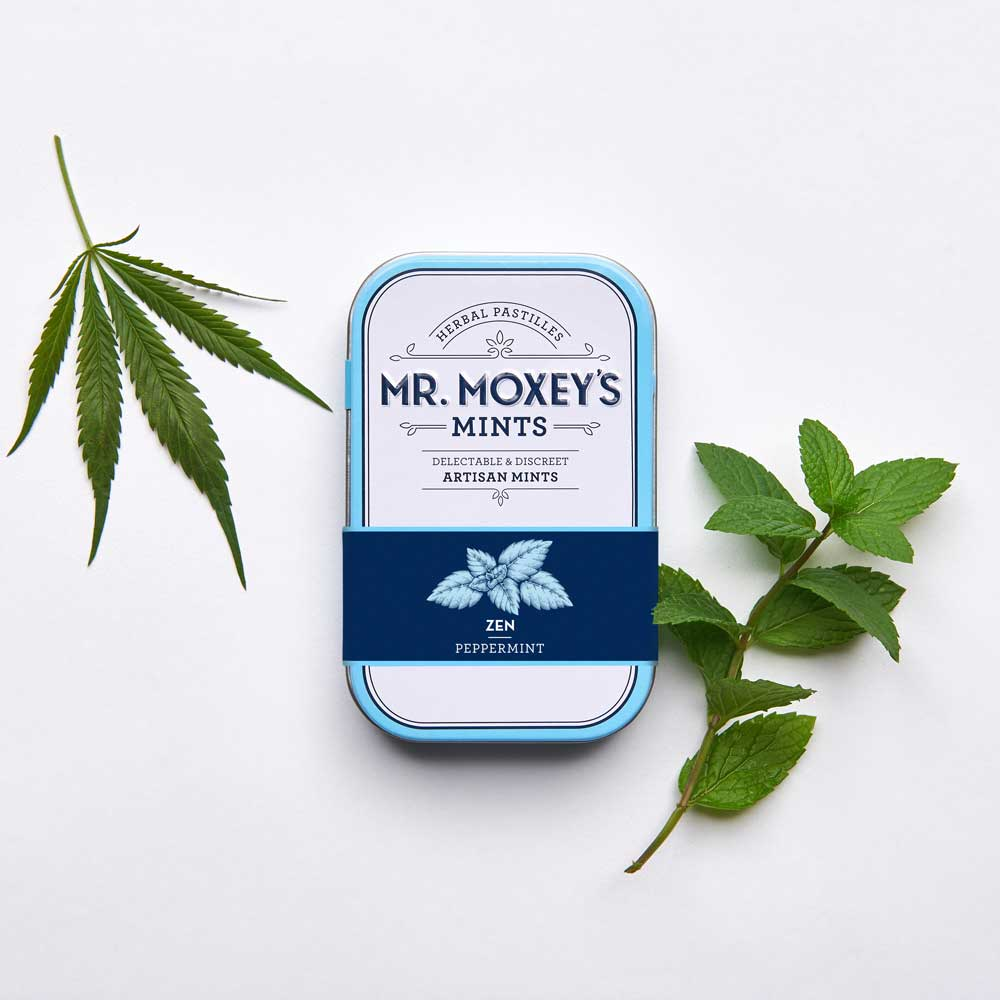 Zen Peppermint - These restorative peppermint mints deliver a 1:25 blend of THC and CBD to support balance of mind and body, enriched with Indian Gooseberry to support rejuvenation and Echinacea to boost immunity.