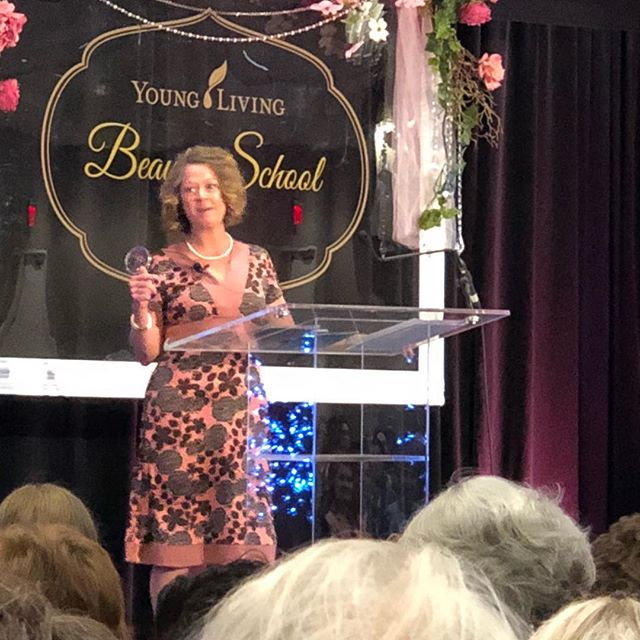 "Rhonda Flint opened with Song of Solomon chapter 6 verse 10: "" Who is this who looks down like the dawn, beautiful as the moon, bright as the sun, awesome as an army with banners?"" We need to recognize our self-worth. Another great speaker this morning. Wow!! #okcbeautyschool"