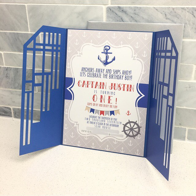 Our laser cuts are a perfect way to make any invitation stand out! Check out these fun First Birthday invites!! 💌