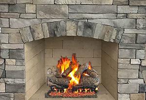Gas Log Set w/key valve -