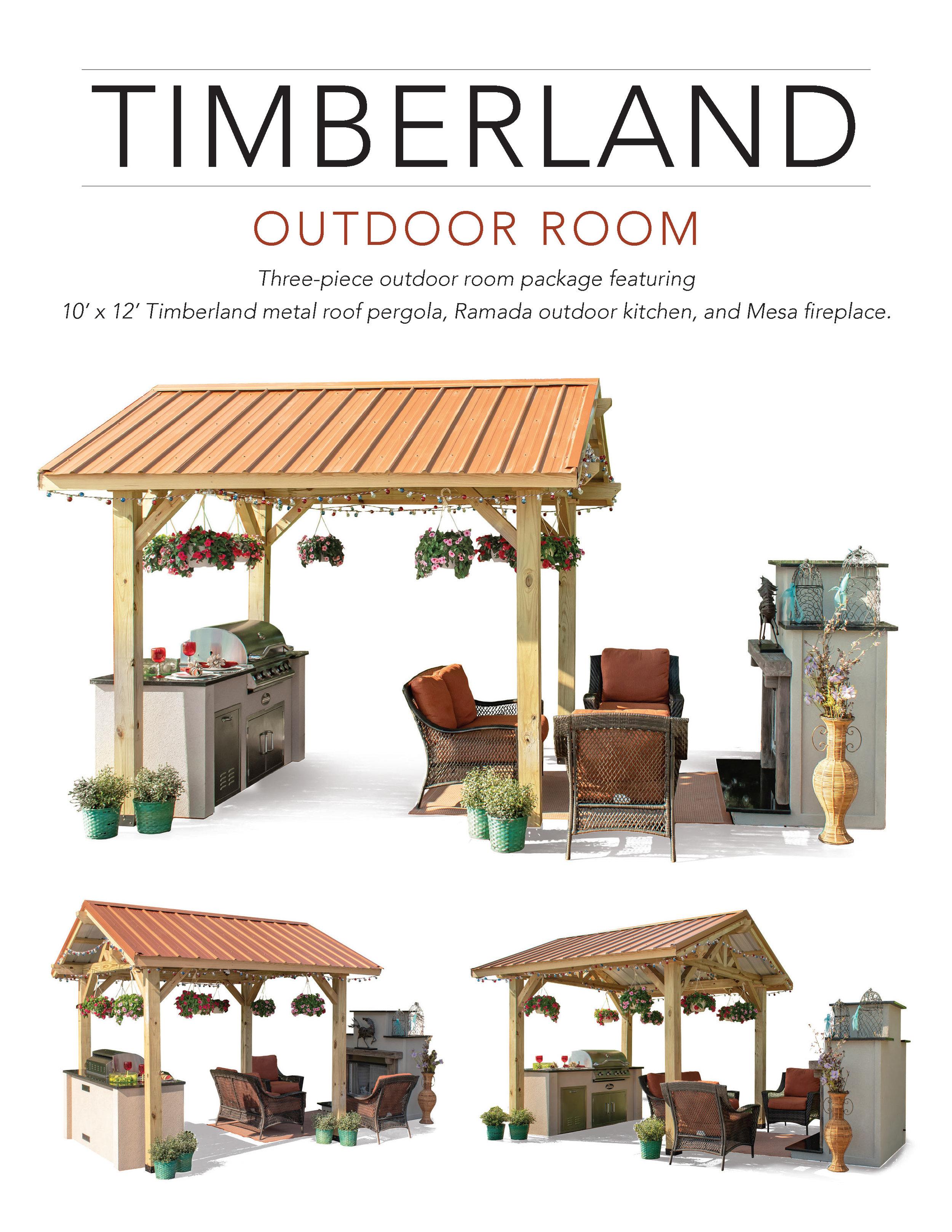 3 piece Timberland Complete Outdoor Room Flyer