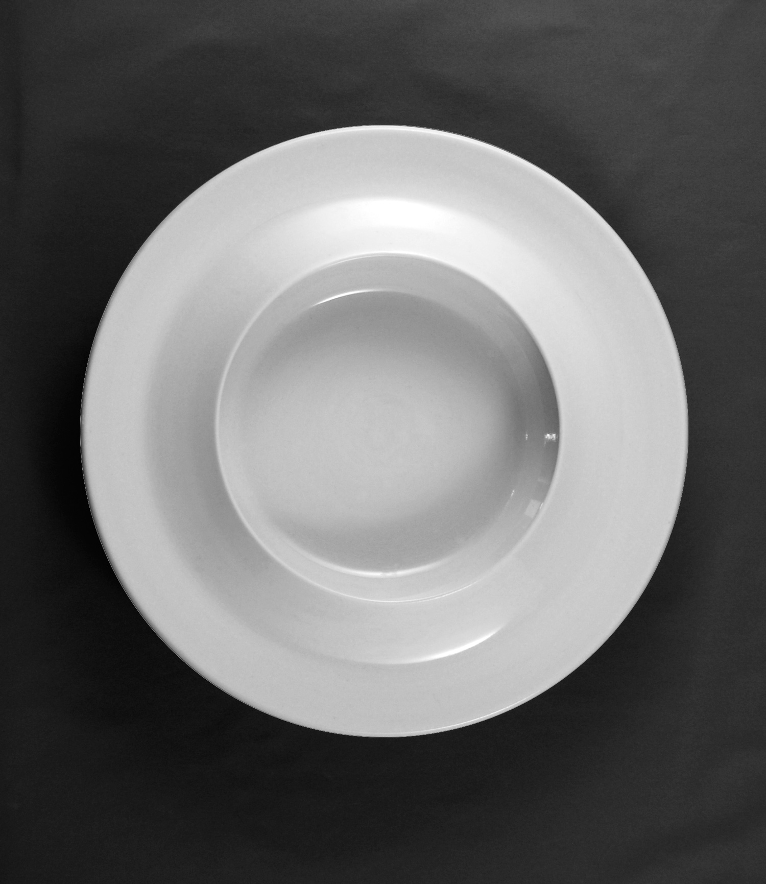 Bowl-plate for pastas viewed from top