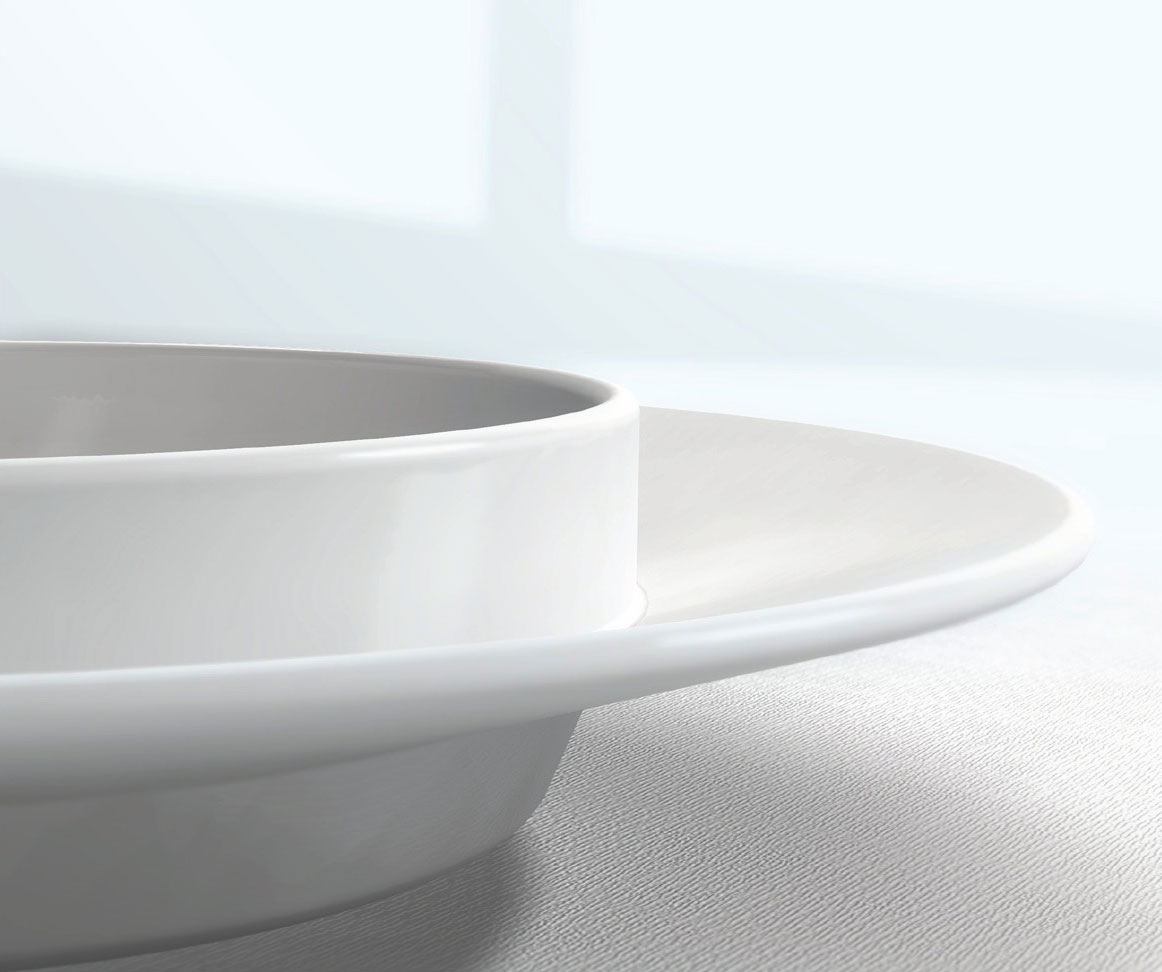 Bowl-plate for salad detail
