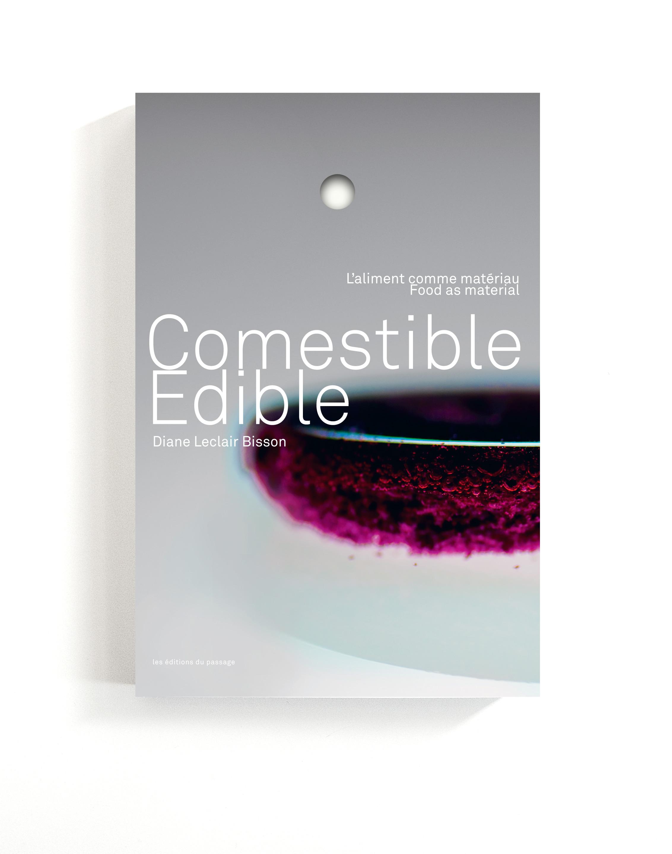 Edible food as material book cover