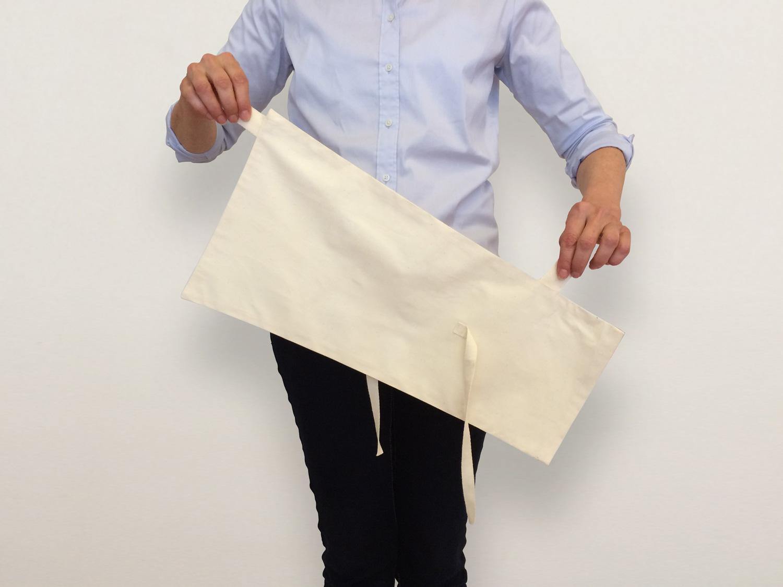 Dispersion bag for ashes unfolded