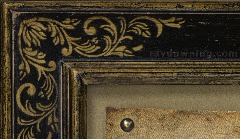 Veronicas Veil Jesus Picture Framed Corner Detail