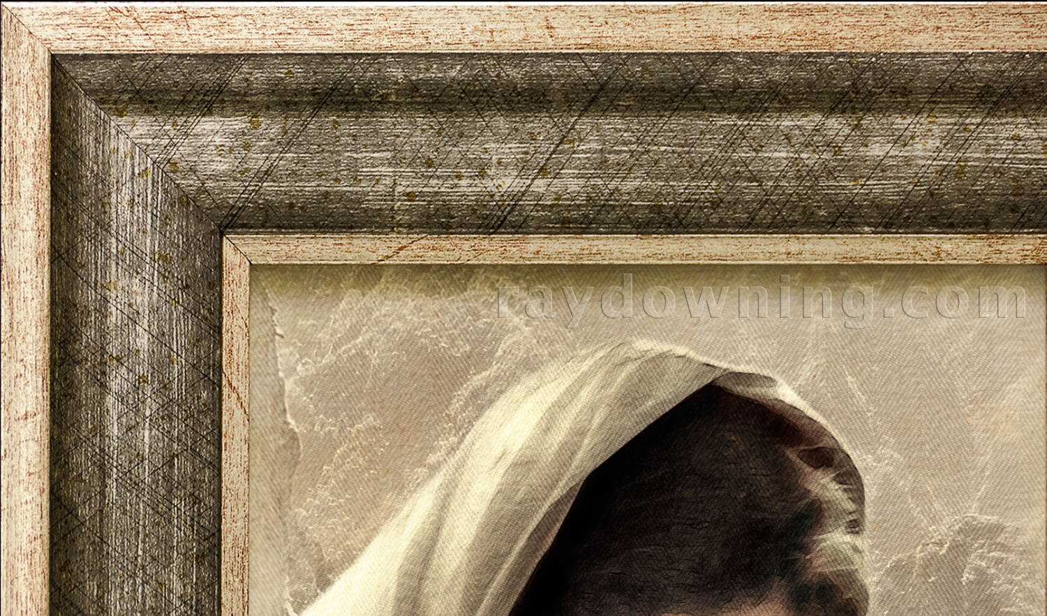 Jesus Holding a Baby Frame detail