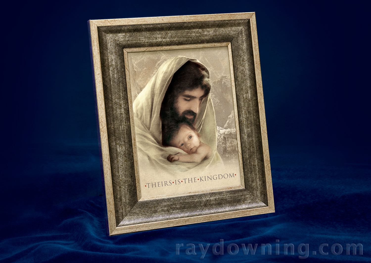Jesus Picture with Baby Shroud of Turin