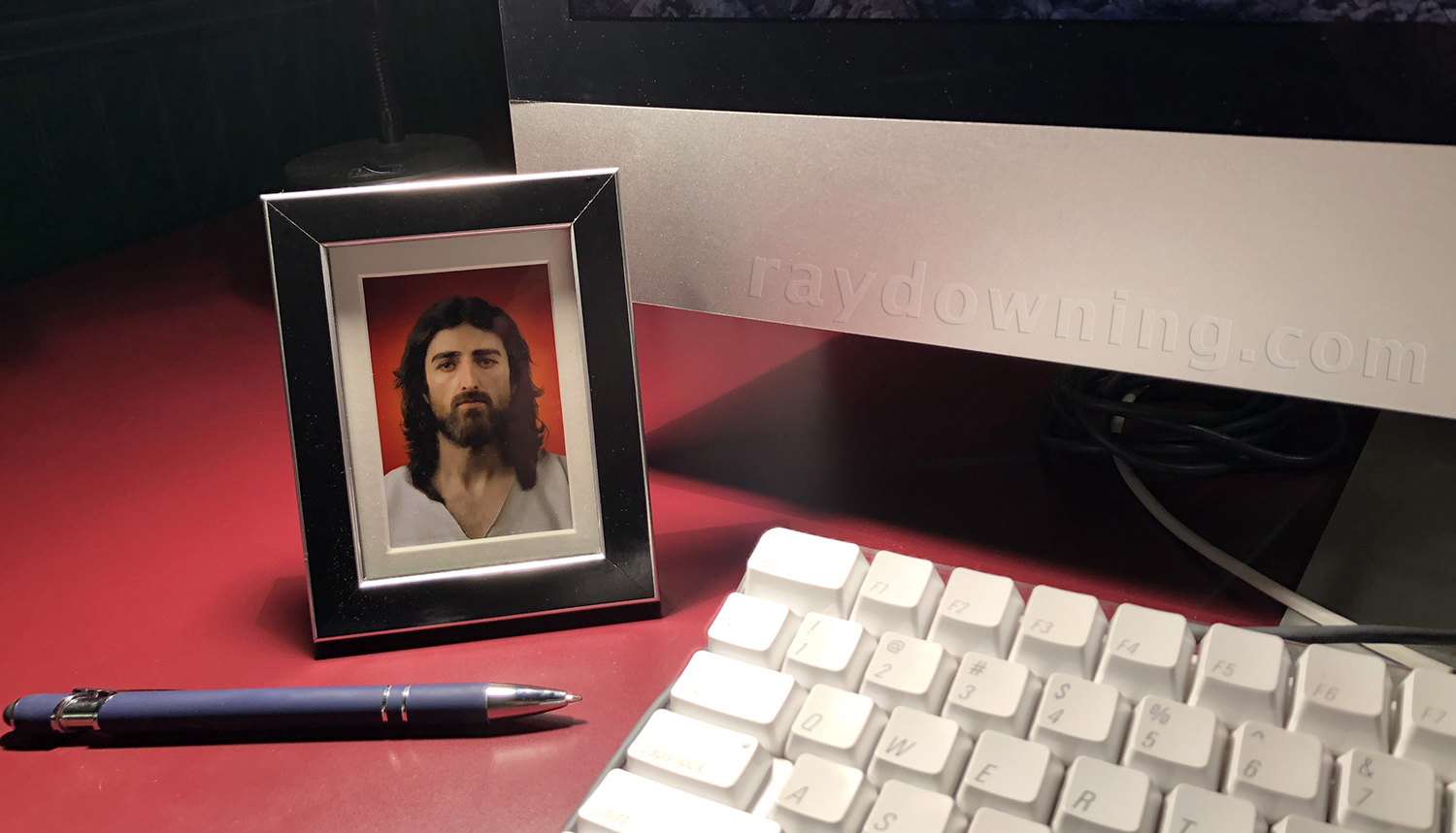 Jesus picture mini frame black