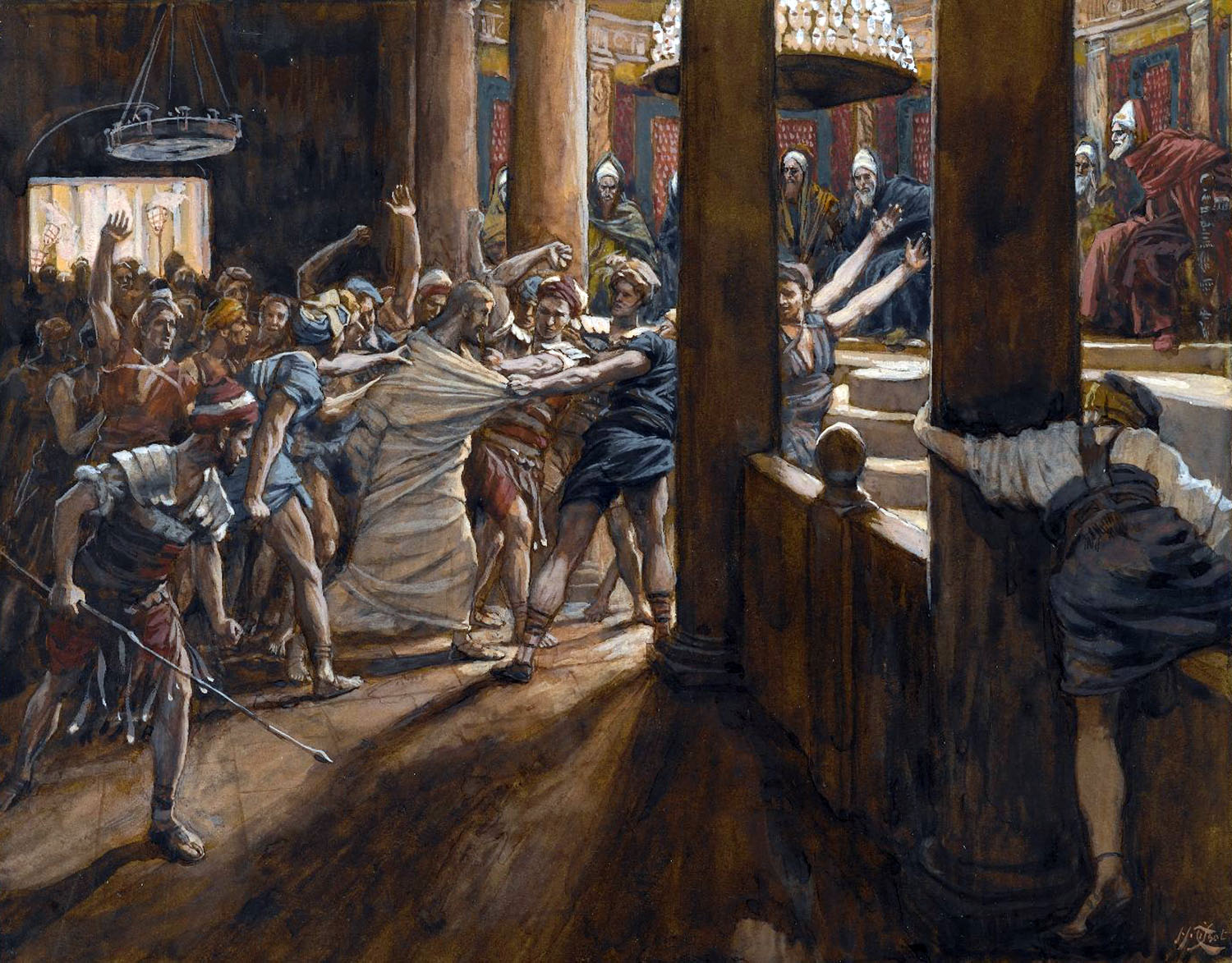 Jesus tribunal before Annas by James Tissot.jpg