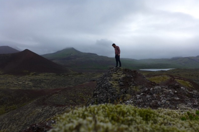 This is Arlin lurking around a Volcano in Snæfellsnes